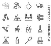 thin line icon set   factory... | Shutterstock .eps vector #770321857