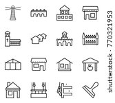 thin line icon set   lighthouse ... | Shutterstock .eps vector #770321953