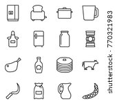 thin line icon set   fridge ... | Shutterstock .eps vector #770321983