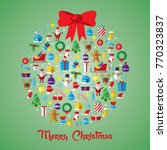 christmas ball composed of new... | Shutterstock .eps vector #770323837