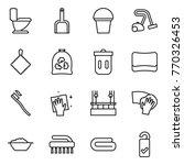 thin line icon set   toilet ... | Shutterstock .eps vector #770326453