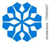 snowflake. blue snowflake on... | Shutterstock .eps vector #770341027