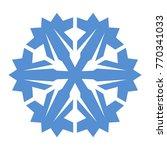 snowflake. blue snowflake on... | Shutterstock .eps vector #770341033