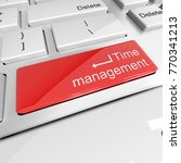 time management on the keyboard ... | Shutterstock . vector #770341213