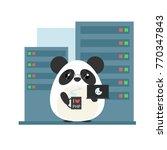 anthropomorphic panda  ... | Shutterstock .eps vector #770347843