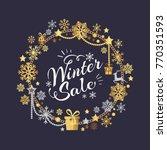 winter sale poster in... | Shutterstock .eps vector #770351593