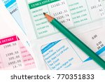 pencil with the several...   Shutterstock . vector #770351833