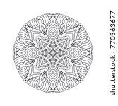vector beautiful hand drawn... | Shutterstock .eps vector #770363677