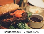 close up of homemade beef... | Shutterstock . vector #770367643