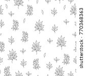 seamless pattern of leaves and... | Shutterstock .eps vector #770368363