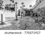 cardo maximus roman pillars.... | Shutterstock . vector #770371927