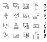 presentation set of vector... | Shutterstock .eps vector #770378383