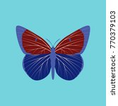 colorful icon of butterfly... | Shutterstock .eps vector #770379103