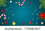 merry christmas and new year... | Shutterstock .eps vector #770381047