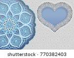 template of wedding greetings... | Shutterstock .eps vector #770382403
