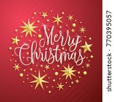 christmas greeting card with... | Shutterstock .eps vector #770395057