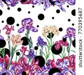 botanical polka dot seamless... | Shutterstock .eps vector #770395687