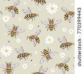 bee insects cartoon doodle... | Shutterstock .eps vector #770399443