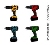 drill machine vector hand... | Shutterstock .eps vector #770399527
