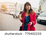 young stylish beautiful woman... | Shutterstock . vector #770402233