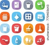 flat vector icon set   chemical ... | Shutterstock .eps vector #770403643