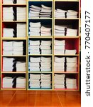 Small photo of logger contain many notebooks for sale in shop