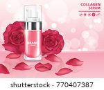 rose collagen vitamin skin care ... | Shutterstock .eps vector #770407387