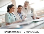medical team checking xray...   Shutterstock . vector #770409637