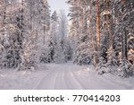 Road Among Snow Covered Trees...