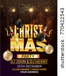 christmas party flyer | Shutterstock .eps vector #770422543