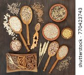 high fiber health food of whole ... | Shutterstock . vector #770423743