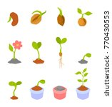 set of illustrations with... | Shutterstock . vector #770430553