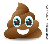 pile of poo emoji icon object... | Shutterstock .eps vector #770433193