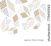 japanese poster style. gold... | Shutterstock .eps vector #770450563
