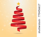 christmas tree made of red... | Shutterstock .eps vector #770456617