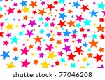 salute of colored stars | Shutterstock . vector #77046208
