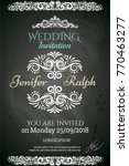 wedding card with detailed... | Shutterstock .eps vector #770463277