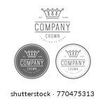 line art crown king and queen... | Shutterstock .eps vector #770475313