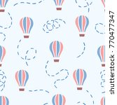 vector seamless pattern with... | Shutterstock .eps vector #770477347