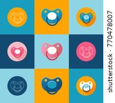 set of pacifier or soother for...   Shutterstock .eps vector #770478007