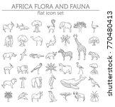 flat african flora and fauna ...   Shutterstock .eps vector #770480413