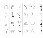 black outline tool set vector... | Shutterstock .eps vector #770496583