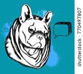 french bulldog. vector...   Shutterstock .eps vector #770497807