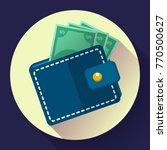 flat vector wallet and money... | Shutterstock .eps vector #770500627