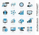 data analysis business... | Shutterstock .eps vector #770514607