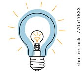 different kinds of light bulbs | Shutterstock .eps vector #770519833