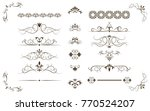 page dividers set  decorative... | Shutterstock .eps vector #770524207