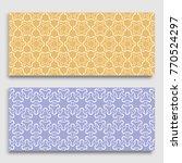 seamless horizontal borders... | Shutterstock .eps vector #770524297