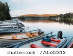 boats at rest on a lake in the... | Shutterstock . vector #770532313
