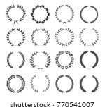 set of wreaths isolated on... | Shutterstock .eps vector #770541007